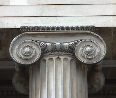 Ionic capital, south portico, British Museum, London